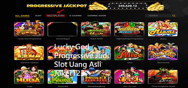Lucky God Progressive Judi Slot Uang Asli Joker123